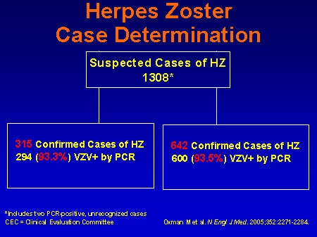 What is the difference between herpes simplex and herpes zoster? 2