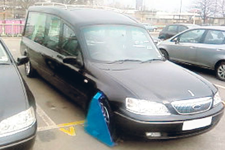 clamped hearse