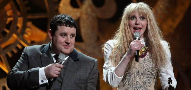 Peter Kay won lots of laughs by poking fun at stars like Courtney Love at the Brits