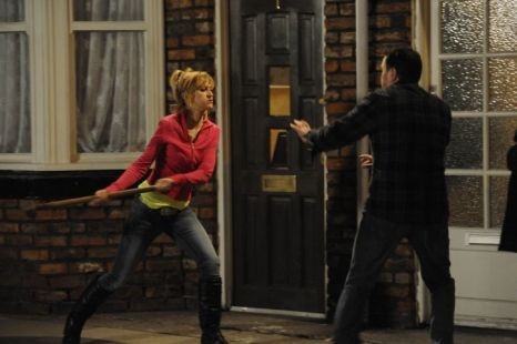Coronation Street Becky smashes up Tracy Barlow's house