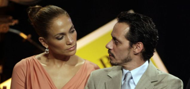 In this Friday March 4, 2011 picture, Jennifer Lopez, left, and Marc Anthony attend a signing ceremony for filmmaking incentive legislation for the U.S. island territory in Bayamon, Puerto Rico.
