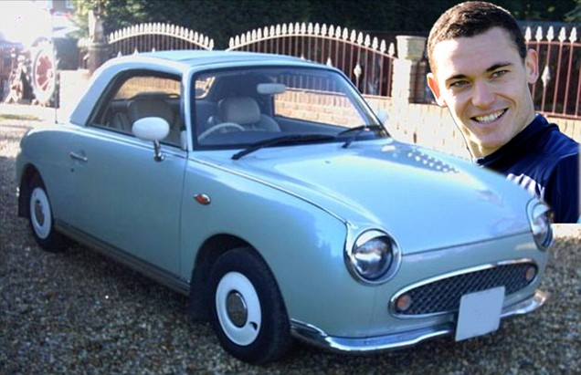 Thomas Vermaelen and a Nissan Figaro