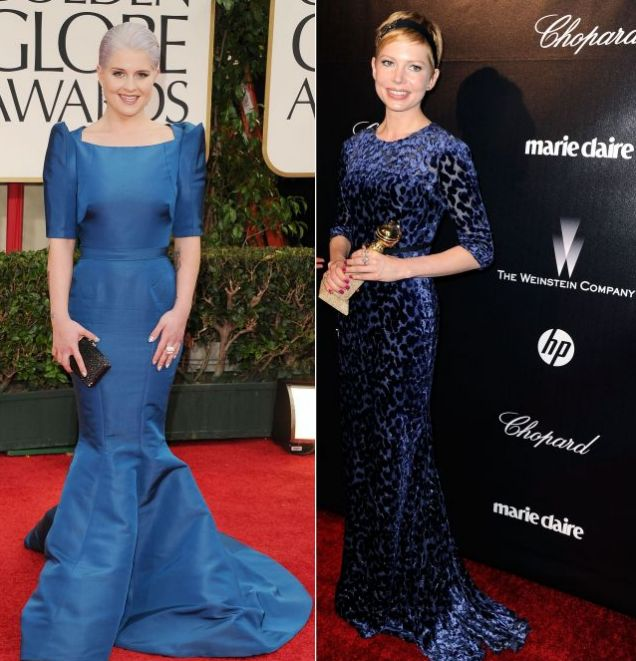 Michelle Williams, Kelly Osbourne, Golden Globes 2012