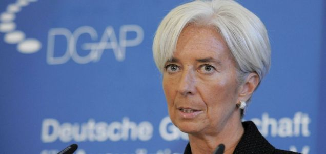 Christine Lagarde IMF downgrades British growth