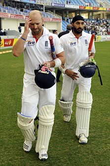 England's Matt Prior and Monty Panesar