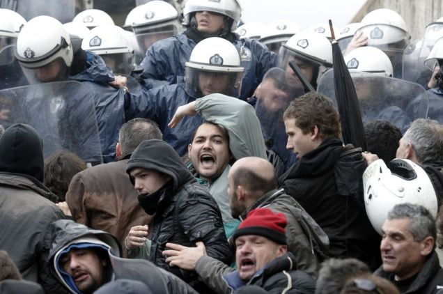 Greece, protestors