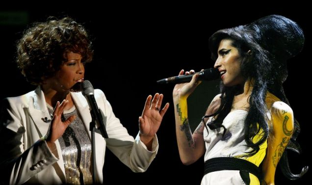 Amy Winehouse and Whitney Houston