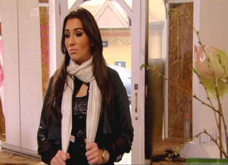 Lauren Goodger surveyed the damage to her shop in last night's TOWIE (Picture: ITV)