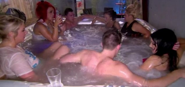 James (top left) has resisted Holly's (left) advances for several weeks (Picture: MTV)
