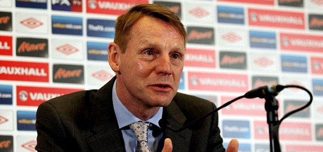 Temporary England Manager Stuart Pearce