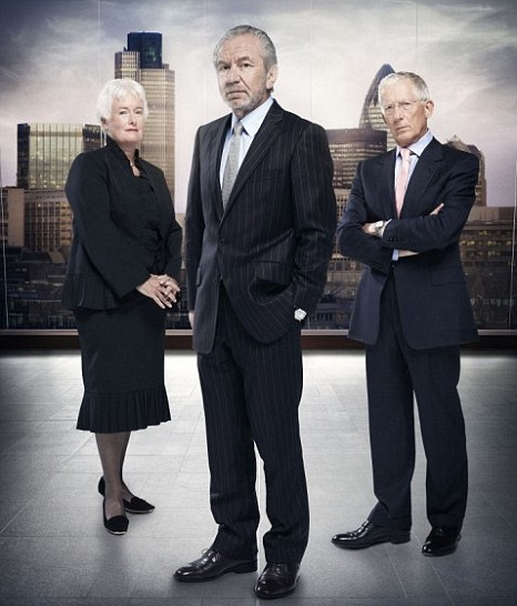 Margaret Mountford, Nick Hewer, Alan Sugar