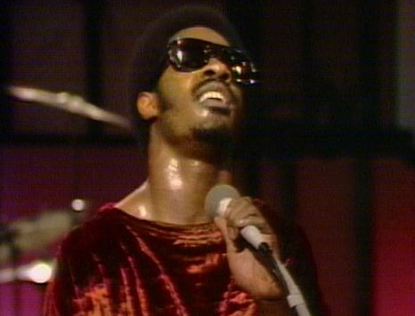 A shot of Stevie Wonder performing live in 1972.