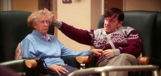 Ricky Gervais claims his character Derek was not disabled (Picture: Channel 4)