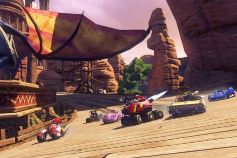Sonic &amp; All-Stars Racing Transformed - here be dragons (the wing on the top left)