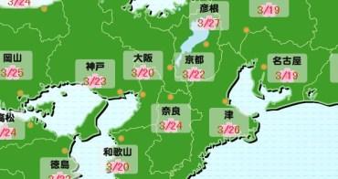 2018京都櫻花前線情報預測(3/29更新),京都櫻花季開花滿開時間