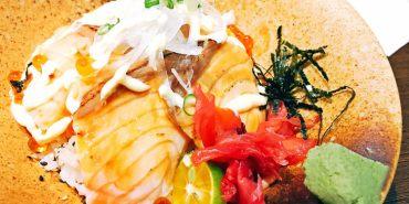 台中西區美食 大間町 和食 超澎湃海鮮丼飯只要180元 開胃小菜吃到飽 味噌湯無限享用 精誠路日本料理 素食 聚餐聚會首選