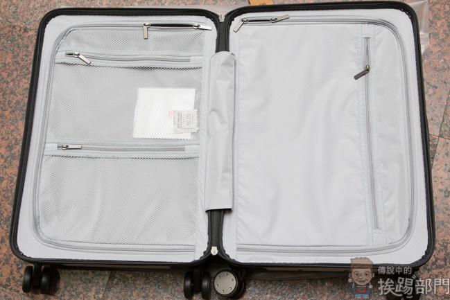 ▼将小米    吋硬壳行李箱打开之后可以看见另外一个特色就是拥有拉鍊