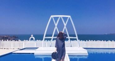 北海岸石門一日遊|我在地中海吧!「伊莎貝拉風情館」:地中海風秘境咖啡廳,還有巨石神像摩艾可拍照(白沙灣、石門景點、北海岸咖啡廳推薦、外拍景點、台北親子餐廳)
