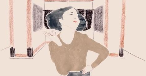 紙上跳舞的女人,令人著迷