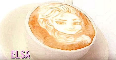 五位被畫在咖啡上的迪士尼公主,你最想喝哪一杯?