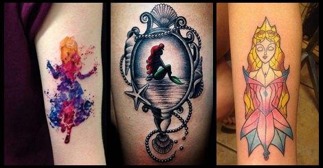 超可愛迪士尼公主們的特色刺青!妳想刺刺看嗎?
