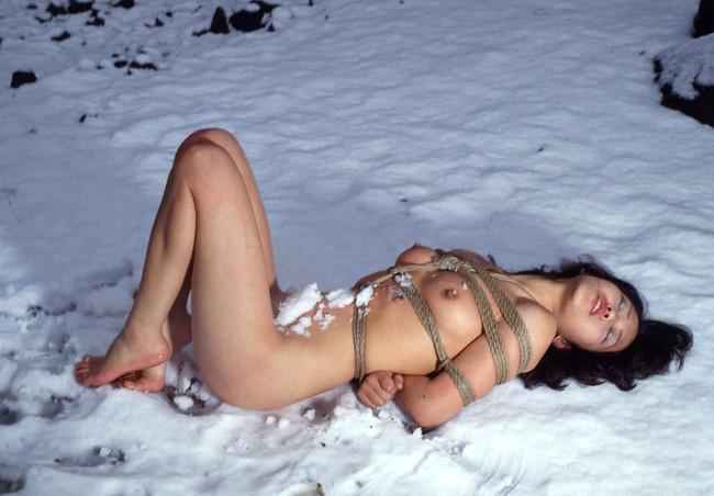 【ヌード画像】雪化粧の中で裸体をさらす美女たちの魅力w(30枚) 28