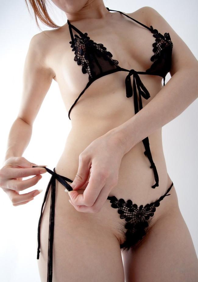 【ヌード画像】美女の黒下着姿が色気ありすぎな件(33枚) 19