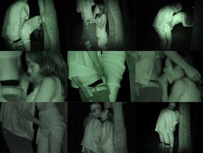 【ヌード画像】公園での素人SEXを赤外線盗撮した画像集!盗撮されようが蚊に刺されようがとにかくSEX!ww(50枚) 11
