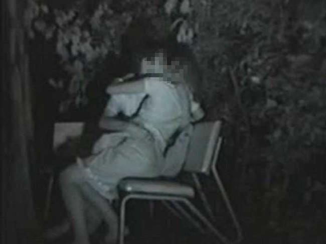 【ヌード画像】公園での素人SEXを赤外線盗撮した画像集!盗撮されようが蚊に刺されようがとにかくSEX!ww(50枚) 43