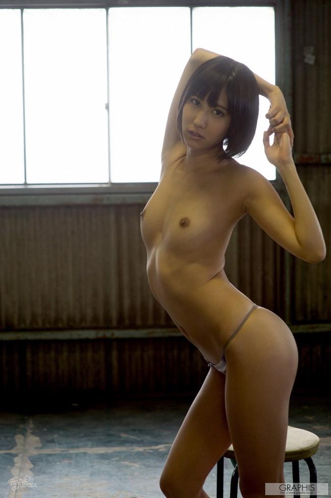 【ヌード画像】最強のショートボブAV女優湊莉久のワビサビのある超エロいヌード画像を集めたら究極にエロくなった!(50枚) 37
