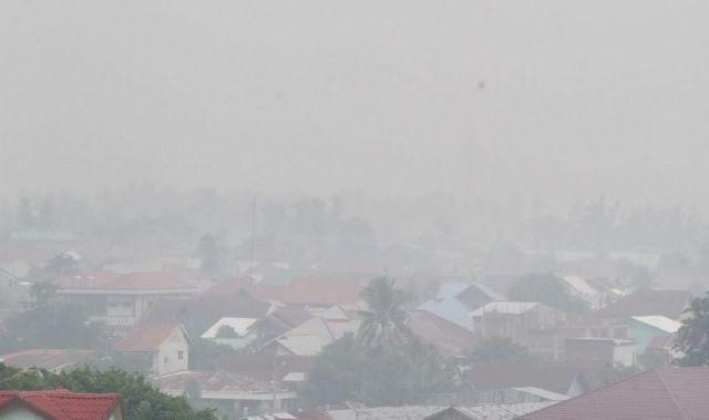 Kabut asap. (Foto: Antara)