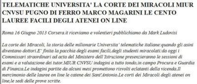 CORSERA MAGAZINE - UNIVERSITA' TELEMATICHE LE SLOT MACHINE DELLE LAUREE ON LINE CHI SONO LE ...