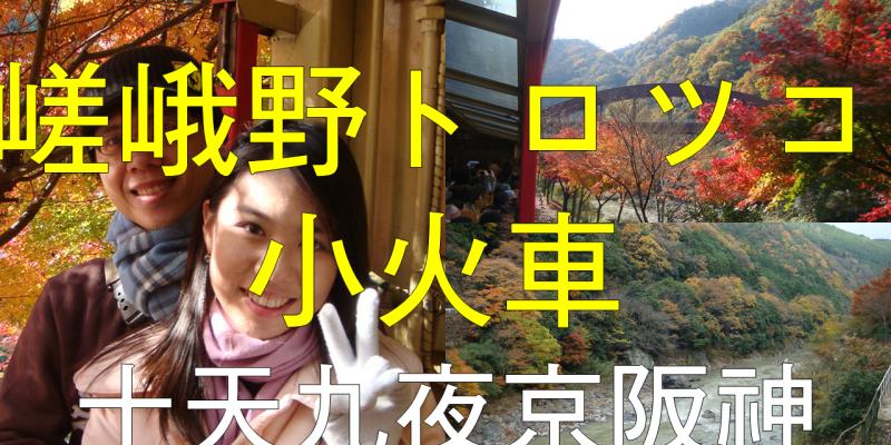 二度蜜月 day8 在【嵯峨野トロツコ小火車】上用25分鐘飽覽【保津川】的深秋楓紅