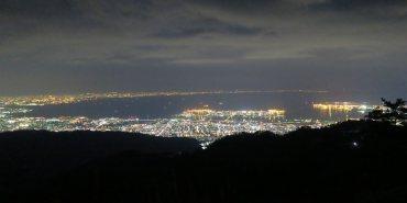 【2017日本出張關西賞櫻】六甲山1000萬Dollar的夢幻夜景快閃,交通餐廳全攻略/巴士/纜車/Garden Terrace/Granite Café/Horti