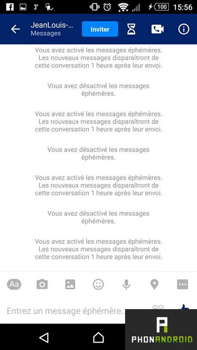 facebook messenger messages ephemeres