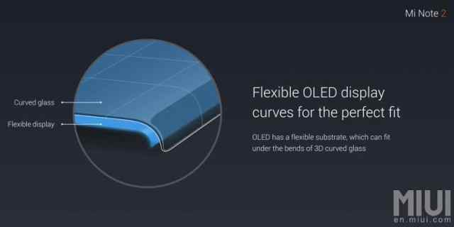 xiaomi mi note 2 ecran flexible
