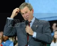 Confused politician (George Bush)