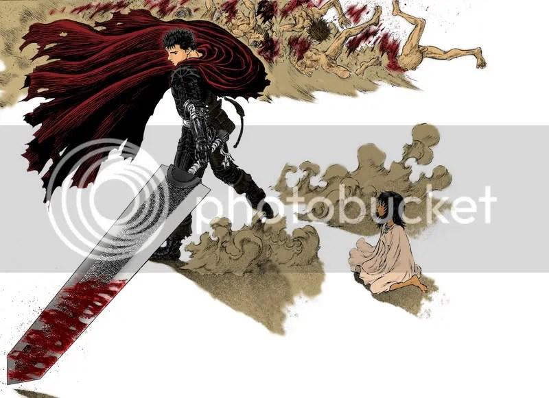 Berserk Guts and Farnese