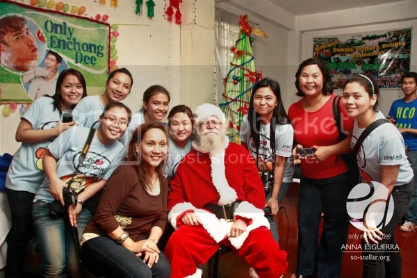 Mama Dee, Santa, and some of the ladies of OED