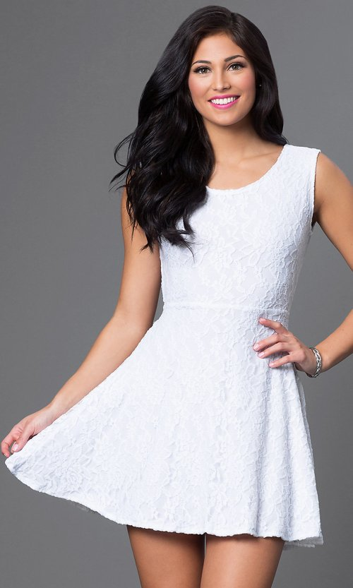 Medium Of Short White Dresses