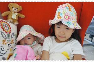 (邀約)韓國時尚品牌Kinderspel遮陽帽、有機棉圍兜領巾