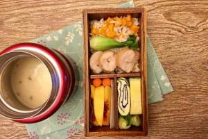 【便當日記】#39 雞肉叉燒與沾面醬Bento #39 Chicken Char Siu And Noodle Soup Base