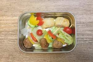 【便當日記】#64 培根丸子蔬果串 Bento #64 Bacon Meatball Veggie Skewers