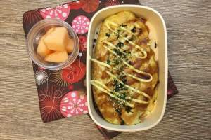 【便當日記】#70歐姆烏龍麵 Bento #70 Omelette Udon