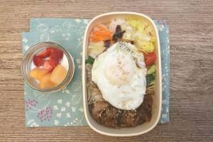【便當日記】#75 蔬菜多多韓式燒肉飯Bento #75 Korean BBQ Beef Rice (Bulgogi) with Veggies