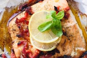 低醣食譜影片-氣炸鍋紙包鮭魚