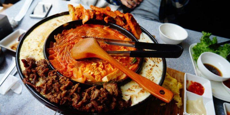 【食記*高雄】哈摩尼 ♥ 大人氣、大滿足的幽浮鍋(春川雞/醬燒梅花豬/起司蛋/摩佐拉起司/部隊鍋)