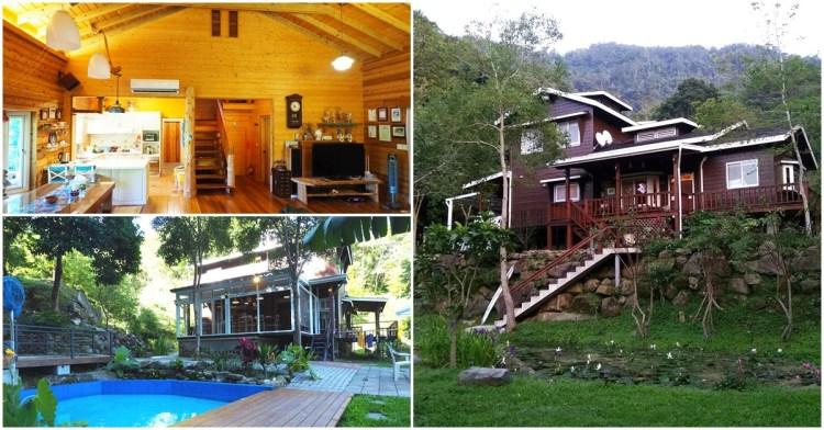 苗栗包棟民宿|南庄被螢火蟲包圍的獨棟小木屋 私人戲水池、可烤肉