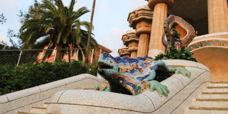 《西班牙巴塞隆納》奎爾公園免費玩一路下坡輕鬆走法