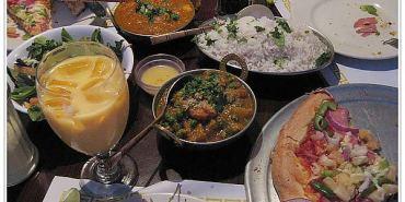 美國CA 印度芒果咖哩雞配夏威夷披薩 Sam's Indian Restaurant Food